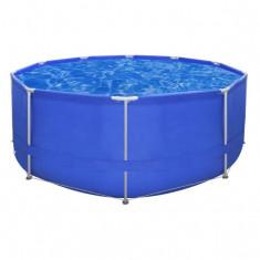 Piscină cu cadrul rotund din oțel 367 x 122 cm, Albastră