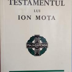 TESTAMENTUL LUI ION MOTA 1982 MUNCHEN RAZBOIUL CIVIL SPANIA MISCAREA LEGIONARA