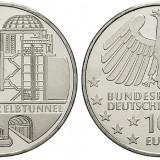 Germania moneda 10 euro 2011 Cu-Ni UNC in capsula - Tunelul Elba, Europa, Cupru-Nichel