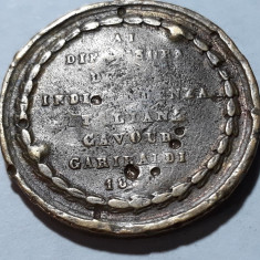 MEDALIE ITALIA 1859 - COMEMORATIVA - INDEPENDENTA ITALIEI - GARIBALDI