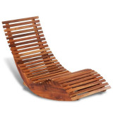 Balansoar șezlong din lemn de acacia