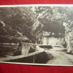 Ilustrata -Dunarea la Cazane ,circ. 1950 ,pliu pe centru, Circulata, Printata