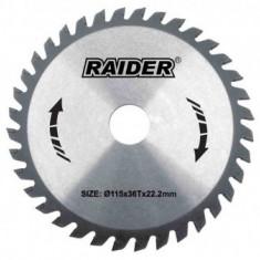 Disc circular pentru lemn 160mm, 24T, Raider