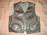 Vesta piele naturala de bovina/barbati/barbateasca/clasic/moto/motociclisti