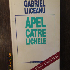 APEL CATRE LICHELE-GABRIEL LIICEANU ( CU DEDICATIE )