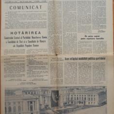 Ziarul Scanteia ,23 Martie 1965 ; Alegerea lui Ceausescu ca Prim Secretar al PMR