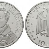 Germania moneda 10 euro 2013 Cu-Ni UNC in capsula - Georg Büchner, Europa, Cupru-Nichel