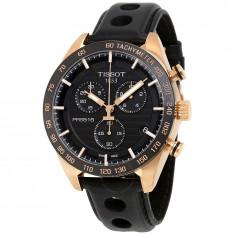 Ceas Tissot PRS 516 negru auriu cronograf barbatesc, Lux - sport, Quartz, Inox