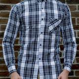 Camasa carouri - camasa slim fit - camasa fashion - camasa barbati camasa lunga, L, M, S, XL, Din imagine