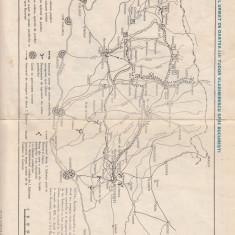 ROMANIA HARTA  ITINERARIU OASTEA  TUDOR VLADIMIRESCU BUCURESTI-ROMANIA DUPA 1918