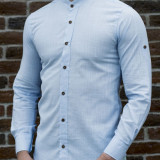 Camasa tunica bleu - camasa slim fit - camasa barbati - camasa in, L, M, S, XL, Din imagine