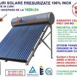 Panou solar presurizat, 150 litri, 15 tuburi, 100% INOX, cel mai mic pret (!)