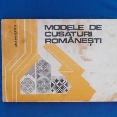 ANA PINTILESCU - MODELE DE CUSATURI ROMANESTI , 1977
