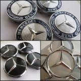 Capace jante aliaj Mercedes diametru 75mm set 4 bucati 3 modele