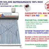 Panou solar nepresurizat, 160 litri, 15 tuburi, 100% INOX, cel mai mic pret (!)