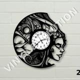 Ceas de perete din vinil abstract