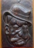 C. Argentoianu ; Sculptura interbelica in lemn de Ioan Sarghie , semnata , 1932