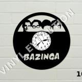 Ceas de perete din vinil seriale: Big Bang Theory, Friends, Arrow, Outlander