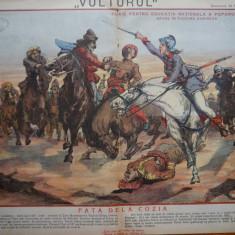 Ziarul Vulturul , nr. 14 din 1906 , cromolitografie mare , Fata dela Cozia