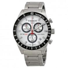 Ceas Tissot PRS 516 barbatesc cronograf ecran alb, Casual, Quartz, Inox
