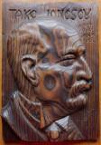 Take Ionescu ; Sculptura interbelica in lemn de Ioan Sarghie , semnata , 1932