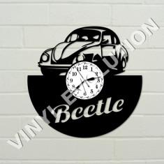 Ceas de perete din vinil cu masini vintage