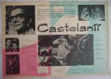 Afisul filmului romanesc Castelanii , 1971 , cu Radu Beligan , Colea Rautu