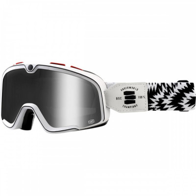 Ochelari ATV/cross 100% Barstow Death Spray Customs, sticla argintie Cod Produs: MX_NEW 26012452PE foto