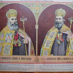 Ziarul Vulturul , nr. 125 din 1909 , cromo , Mitropolitul Valachiei si Moldovei