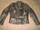Geaca din piele naturala/Moto/Motor/Motociclist/Vintage/Clasic/Rock/Rocker