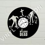 Ceas de perete din vinil cu zombie
