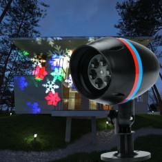BLACK FRIDAY! PROIECTOR STAR SHOWER EXTERIOR CU LEDURI RGB COLOR,FULGI DE NEA!