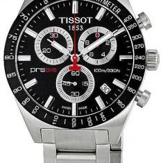 Ceas Tissot PRS 516 barbatesc cronograf ecran negru, Casual, Quartz, Inox