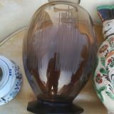 Vaza din sticla artdeco vaseline glas