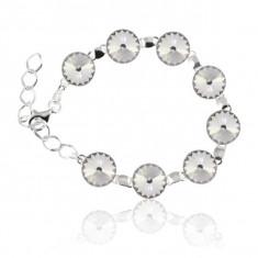 Bratara argint, Bratara Swarovski Rivoli Crystal Clear 12mm + CADOU Laveta pentru curatat bijuteriile din argint