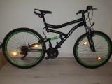 Bicicleta X-Fact Twin FS foarte putin utilizata + pompa de podea, 26, 18