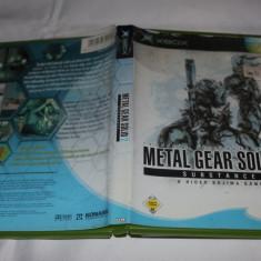 [XBOX] Metal Gear Solid 2 Substance - joc original Xbox clasic