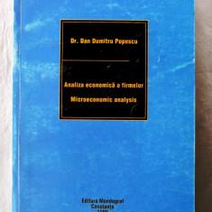 ANALIZA ECONOMICA A FIRMELOR / MICROECONOMIC ANALYSIS -Dan Dumitru Popescu, 1999