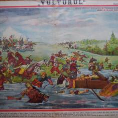 Ziarul Vulturul , nr. 29 din 1906 , cromolitografie mare , Stefan cel Mare
