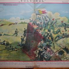 Ziarul Vulturul , nr. 40 din 1906 , cromolitografie ; Asaltul Grivitei
