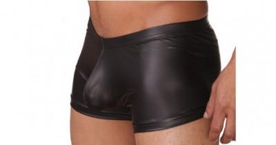 Boxer aspect PIELE - nylon elastic cu aspect piele lucioasa foto