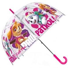 Umbrela transparenta manuala Skye si Everest Patrula Catelusilor 70 cm