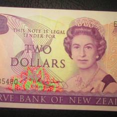 Noua Zeelanda : 2 dolari ND ( 1985-1989 ) . UNC ( bancnota necirculata )