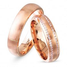 Verighete realizate din aur roz UE14-0295
