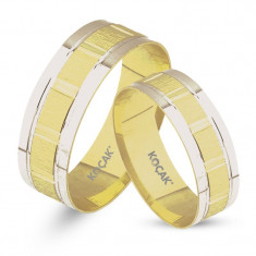 Verighete realizate din aur alb si aur galben UM3363