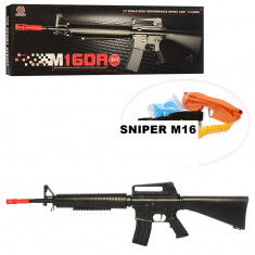 SUPER PUSCA AIRSOFT M16 ,CALIBRU 6MM,OCHELARI PROTECTIE,400 FPS,TRAGERE LA TINTA