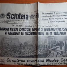 ziarul scanteia 16 septembrie 1987-vizita lui ceausescu in jud,cluj si mures