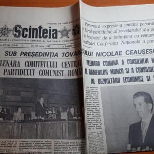 ziarul scanteia 25 iunie 1987-cuvantarea lui ceausescu