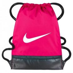 Sac de umar cu snur Nike Brasilia roz inchis