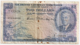 CARAIBE BRITISH CARIBBEAN TERRITORIES EASTERN GROUP 2 DOLLARS 1950 U